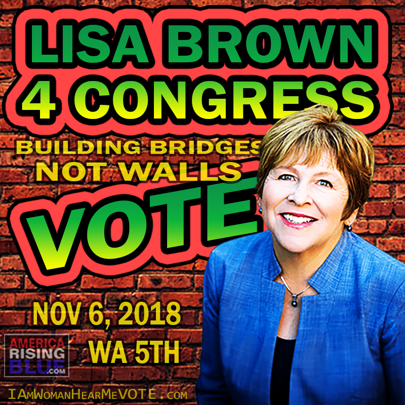 VOTE Lisa Brown 4 Congress WA-05 AmericaRisingBLUE.com